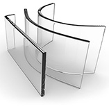 Chemically Strengthened Glass - Custom Curved Glass Designs