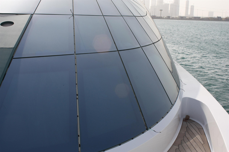 Laminated glass on yacht