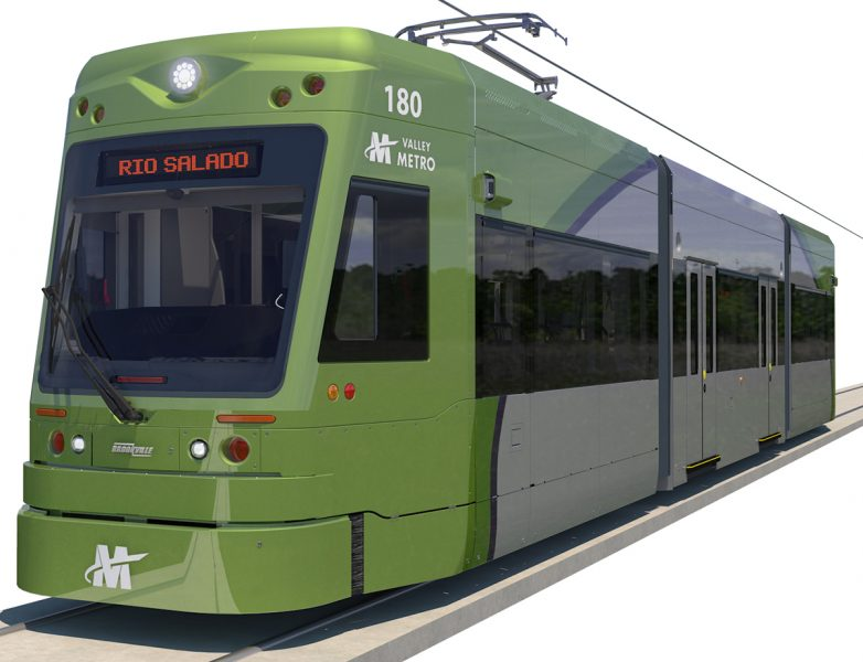 Glass design in Tempe Streetcar light rail